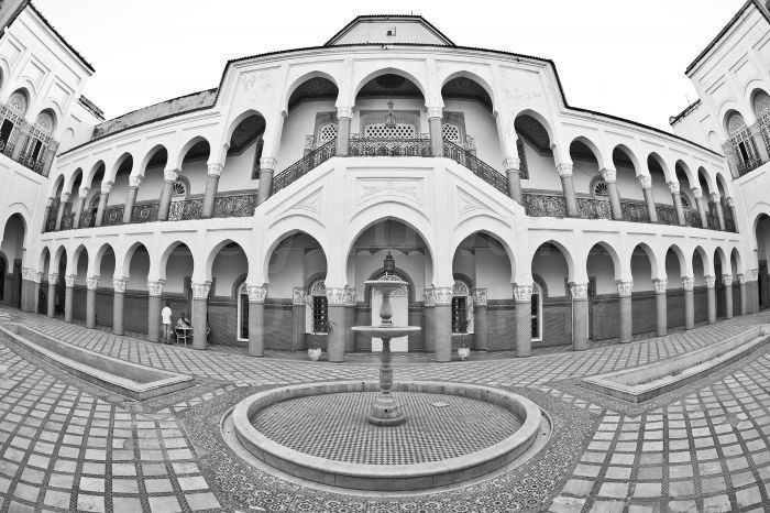 A fisheye lens can add dramatic perspective to architectural scenes