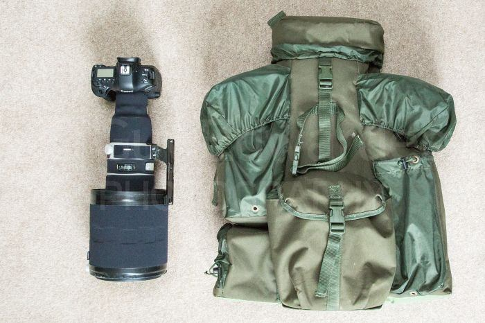 The Viper bag also swallows a 600mm lens with ease, and a lot more besides!