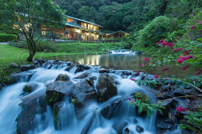One of the rainforest lodges that we stayed in