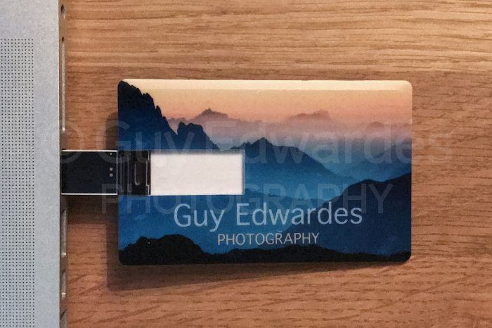 Business card flash drives guy edwardes photography card sized flash drive to maximise space for images i was also able to include all my contact details so the drives double up very nicely as business reheart Choice Image