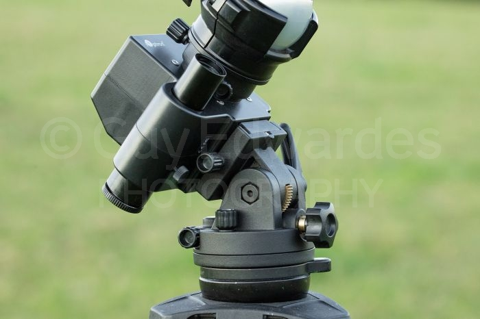 iOptron Sky Tracker Pro has a scope to aid alignment with Polaris