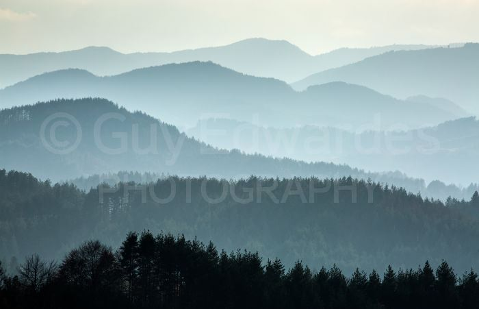 Hazy conditions allowed us to capture a few layered landscape scenes