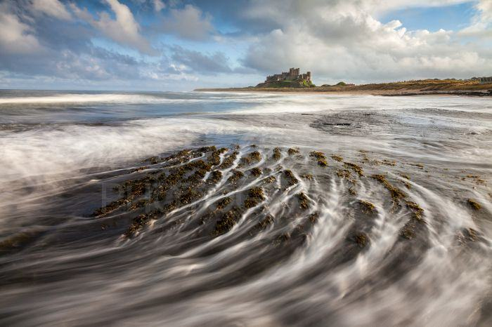 Our base at Bamburgh was ideal as it allowed us to keep a careful eye on the state of the tide