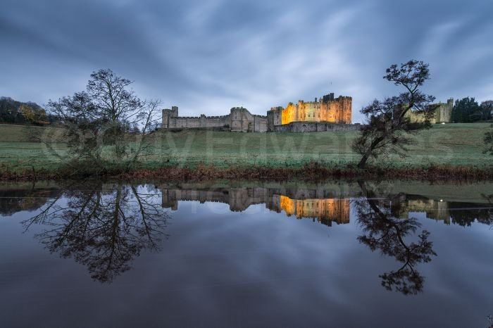We eventually managed to capture a decent reflection of Alnwick Castle in the River Aln