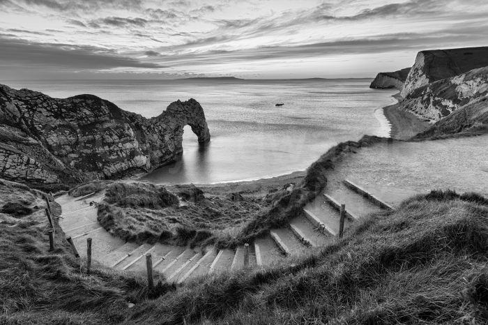 Although this view of Durdle Door was taken at sunset, I wasn't too keen on the colours in the scene and thought it was much more effective in monochrome.