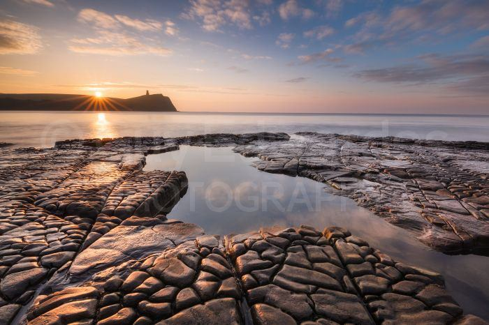 Kimmeridge Bay is a great location for sunrise and sunset photography.