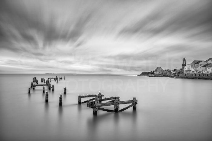 The old pier at Swanage taken using a 10-stop ND filter for an exposure time of four minutes.