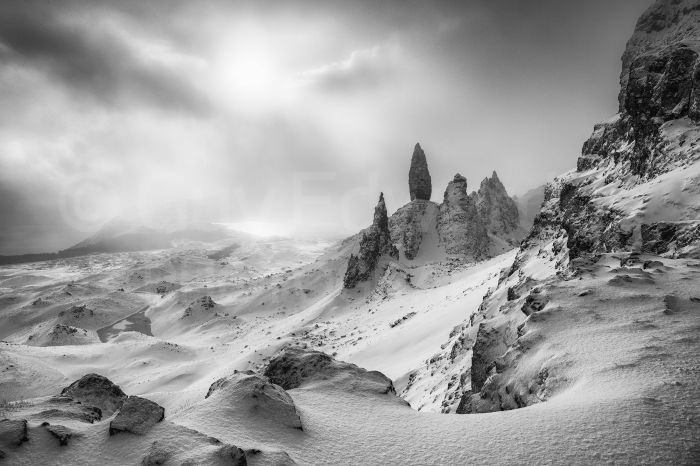 A 5am start, a one hour drive, a two hour walk and three hours standing in freezing temperatures waiting for the sun to break through finally resulted in some nice atmospheric images of The Old Man of Storr