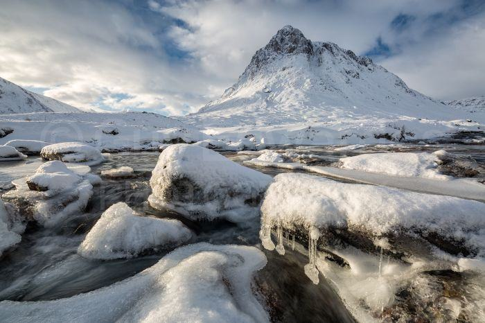 The fresh snow and ice around Buachaille Etive Mor made for some great wintry scenes