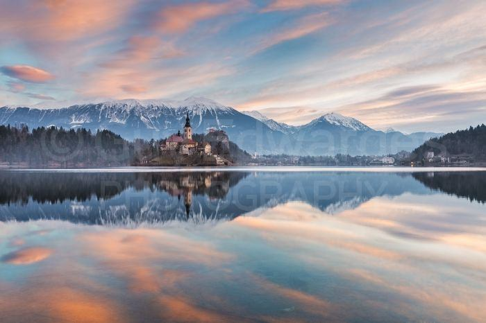 Thankfully we had one still morning where we were able to capture reflections in Lake Bled