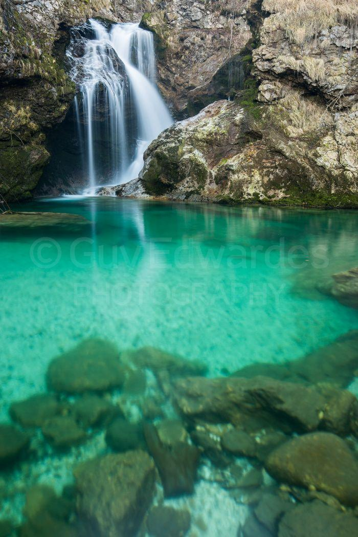 Another new location was this waterfall with its emerald green pool