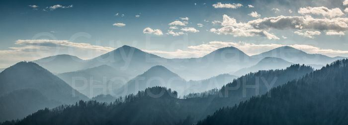 Hazy conditions allowed us to shoot layered landscapes in the middle of the day