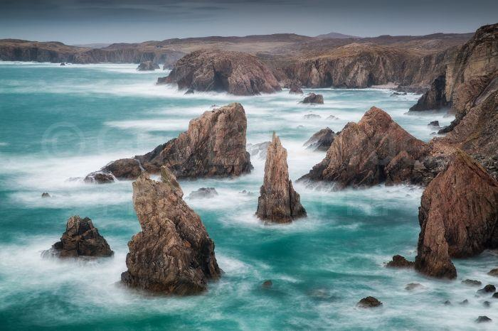 The Isle of Lewis has some very dramatic coastal scenes
